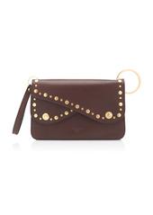 Dolce & Gabbana Stud-Embellished Leather Shoulder Bag