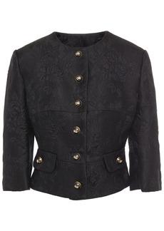 Dolce & Gabbana Woman Floral-jacquard Jacket Black