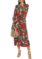 Dolce & Gabbana Woman Floral-print Jersey Culottes Red