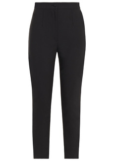 Dolce & Gabbana Woman Wool-blend Crepe Tapered Pants Black