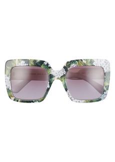 Dolce & Gabbana Dolce&Gabbana 52mm Gradient Square Sunglasses