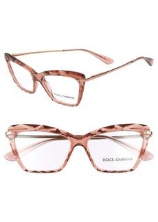 Dolce & Gabbana Dolce&Gabbana 53mm Cat Eye Optical Glasses