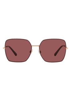Dolce & Gabbana Dolce&Gabbana 57mm Gradient Square Sunglasses