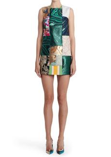 Dolce & Gabbana Dolce&Gabbana Brocade & Jacquard Patchwork Shift Dress