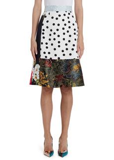 Dolce & Gabbana Dolce&Gabbana Brocade & Jacquard Patchwork Skirt