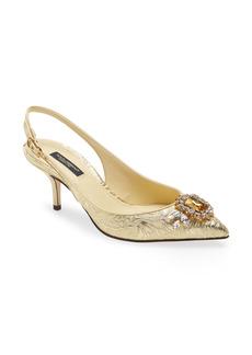 Dolce & Gabbana Dolce&Gabbana Crystal Embellished Pointed Toe Pump (Women)