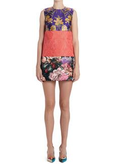 Dolce & Gabbana Dolce&Gabbana Floral Jacquard Patchwork Shift Dress