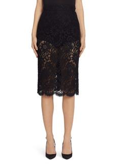 Dolce & Gabbana Dolce&Gabbana Lace Pencil Skirt