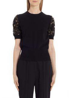Dolce & Gabbana Dolce&Gabbana Lace Sleeve Sweater