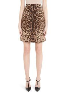 Dolce & Gabbana Dolce&Gabbana Leopard Print A-Line Skirt