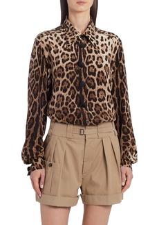 Dolce & Gabbana Dolce&Gabbana Leopard Print Silk Blouse
