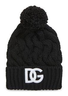 Dolce & Gabbana Dolce&Gabbana Logo Cable Knit Beanie