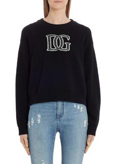 Dolce & Gabbana Dolce&Gabbana Logo Cashmere Blend Sweater