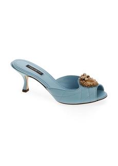 Dolce & Gabbana Dolce&Gabbana Lori Devotion Slide Sandal (Women)