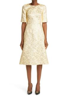 Dolce & Gabbana Dolce&Gabbana Metallic Floral Jacquard Dress