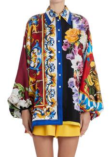 Dolce & Gabbana Dolce&Gabbana Mixed Foulard Print Silk Twill Shirt