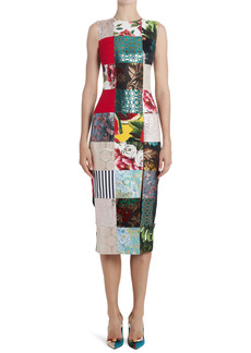 Dolce & Gabbana Dolce&Gabbana Patchwork Midi Dress