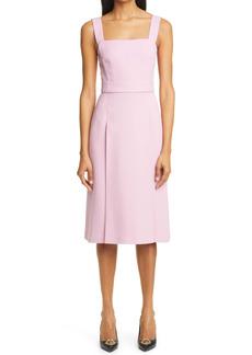 Dolce & Gabbana Dolce&Gabbana Pleated Stretch Cady A-Line Dress
