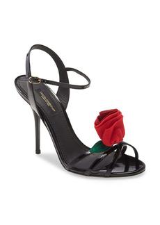 Dolce & Gabbana Dolce&Gabbana Rose Embellished Sandal (Women)