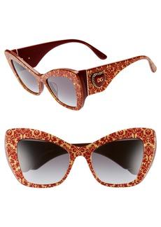 Dolce & Gabbana Dolce&Gabbana Sacred Heart 54mm Gradient Cat Eye Sunglasses