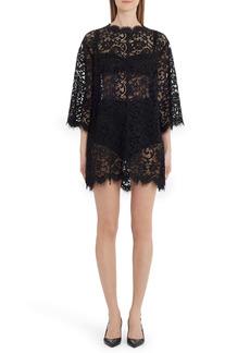 Dolce & Gabbana Dolce&Gabbana Sheer Eyelash Lace Shift Dress