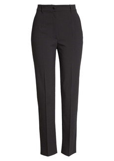 Dolce & Gabbana Dolce&Gabbana Slim Straight Leg Stretch Wool Trousers