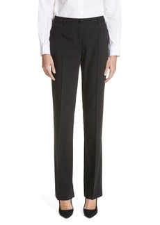 Dolce & Gabbana Dolce&Gabbana Straight Leg Stretch Wool Trousers