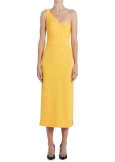 Dolce & Gabbana Dolce&Gabbana Tubino One-Shoulder Cady Dress