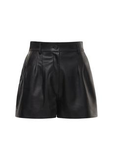 Dolce & Gabbana High Waist Leather Shorts