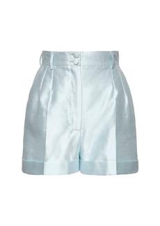 Dolce & Gabbana High Waist Mikado Silk Shorts