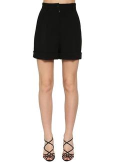 Dolce & Gabbana High Waist Wool Stretch Shorts