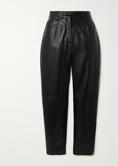 Dolce & Gabbana Leather Straight-leg Pants