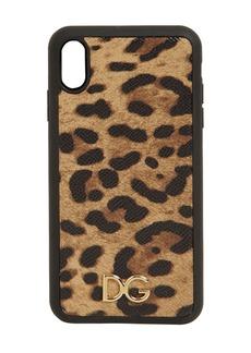 Dolce & Gabbana Leopard Print Leather Iphone Xs Max Case