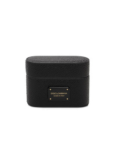 Dolce & Gabbana Logo Plaque Leather Airpods Pro Case