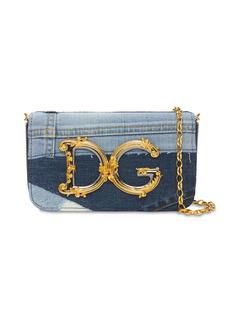 Dolce & Gabbana Mini Dg Girl Denim Shoulder Bag