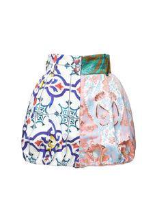 Dolce & Gabbana Mixed Patchwork Jacquard Shorts