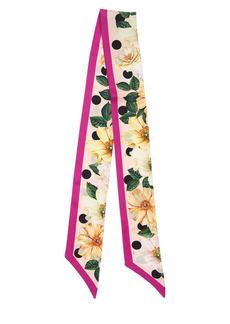 Dolce & Gabbana Printed Silk Twill Slim Scarf