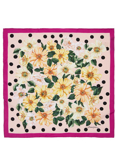 Dolce & Gabbana Printed Silk Twill Square Scarf