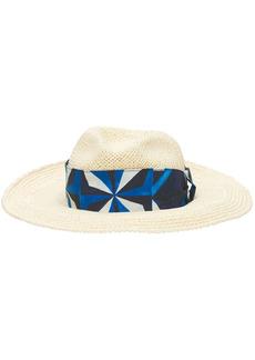 Dolce & Gabbana Raffia Panama Hat W/ Silk Hatband