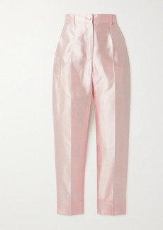 Dolce & Gabbana Silk-shantung Tapered Pants