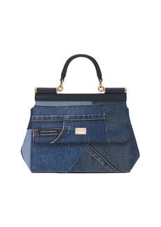 Dolce & Gabbana Small Sicily Denim Top Handle Bag