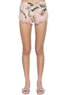 Dolce & Gabbana Stretch Lace Charmeuse Shorts