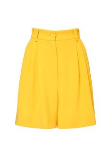 Dolce & Gabbana Stretch Viscose Cady Bermuda Shorts