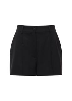 Dolce & Gabbana Stretch Wool Blend Shorts