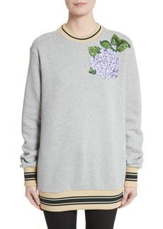 Women's Dolce & gabbana Hydrangea Patch Sweatshirt