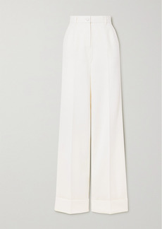 Dolce & Gabbana Wool-blend Wide-leg Pants