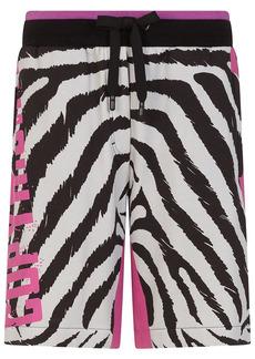Dolce & Gabbana zebra-print track shorts