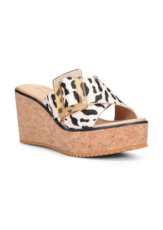 Donald J Pliner Donald Pliner Illiad Platform Wedge Genuine Calf Hair Slide Sandal (Women)