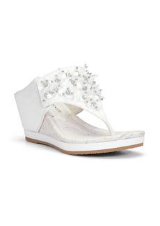 Donald J Pliner Donald Pliner Malone Crystal & Sequin Embellished Wedge Slide Sandal (Women)