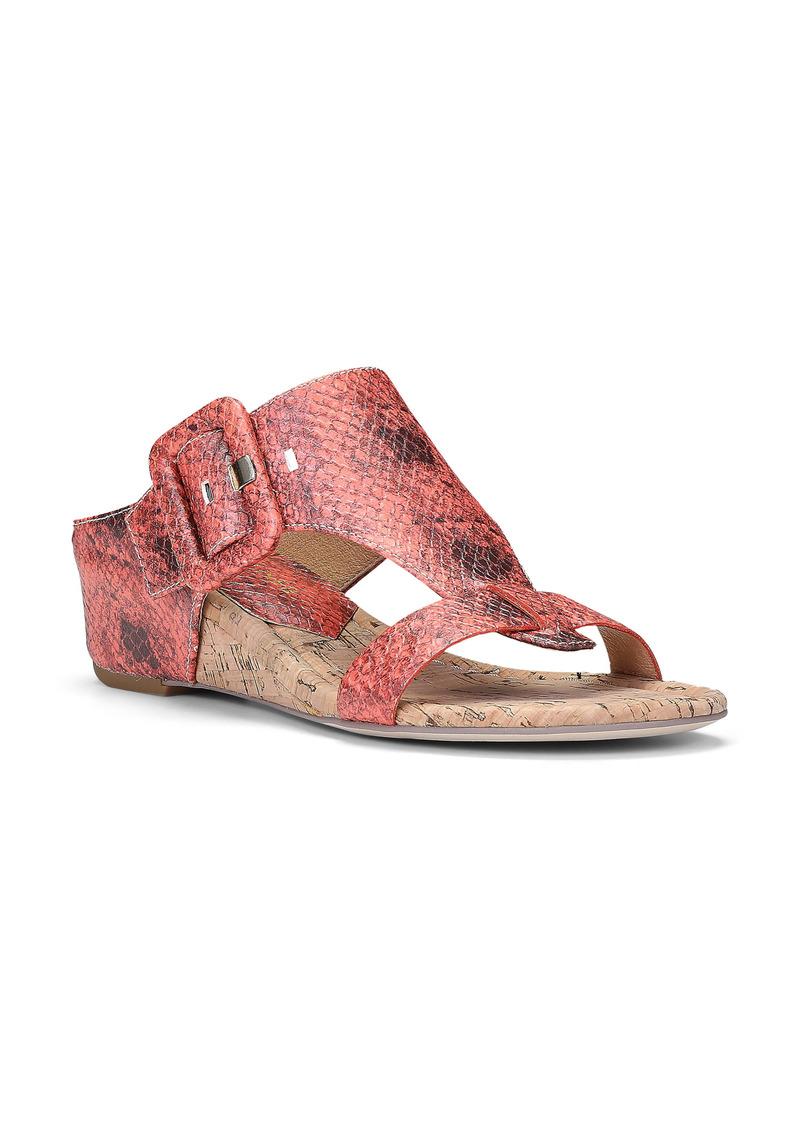 Donald J Pliner Donald Pliner Ofelia Snakeskin Print Wedge Slide Sandal (Women)